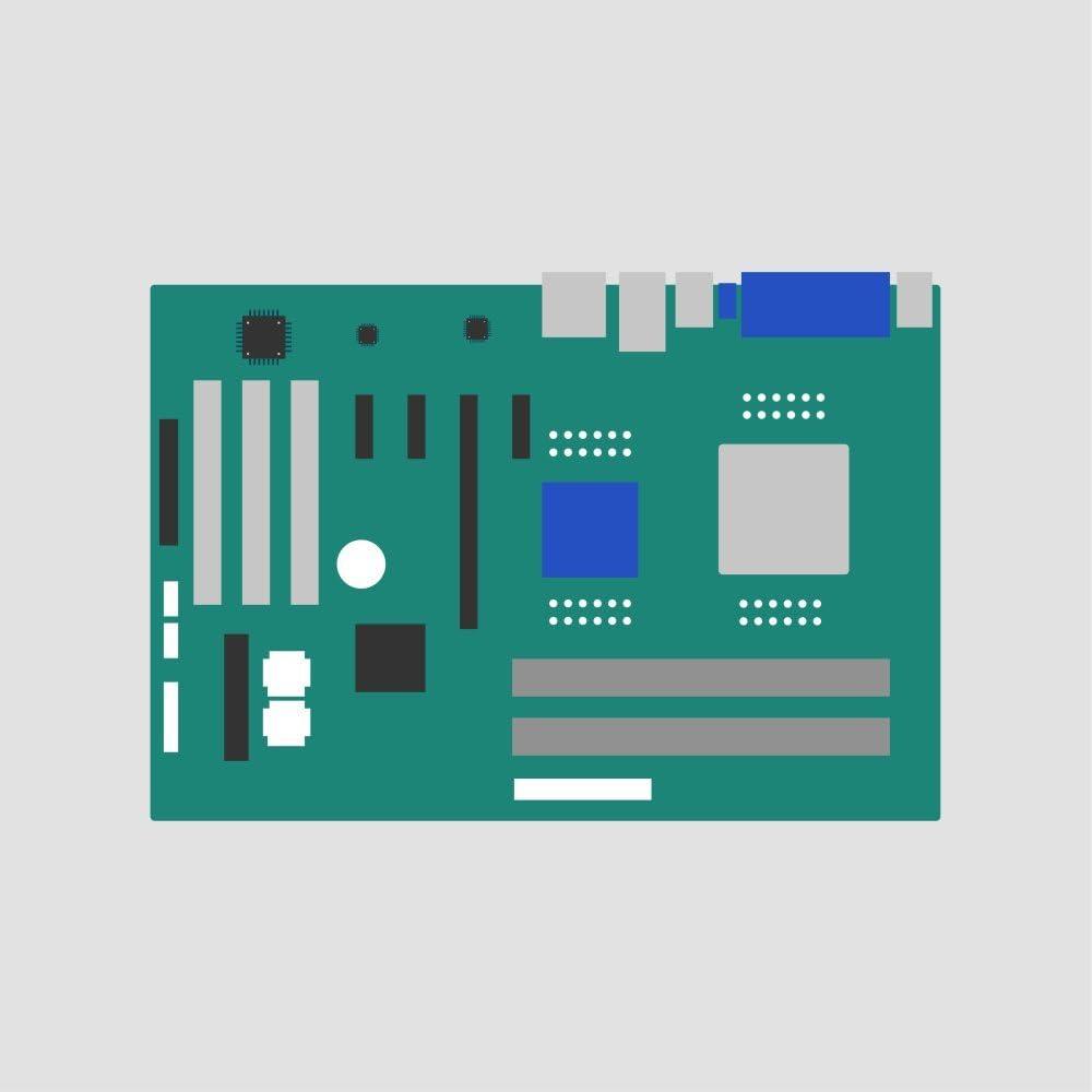 Motherboard ECS REV 1.0A 15-V01-011011,Gateway