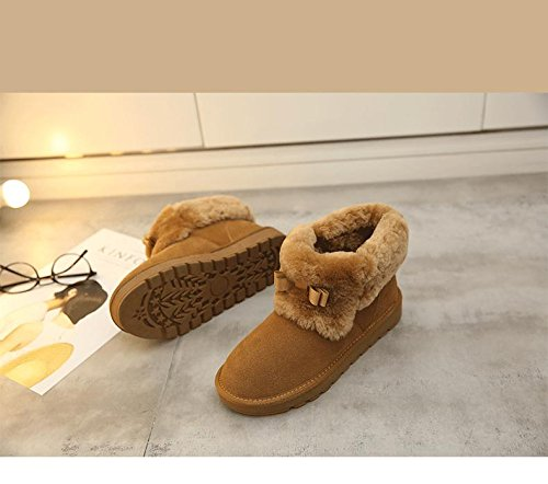 NSXZ wool CAMEL skid boots winter women 90160CM boots warm fashion Leather snow wrwSA