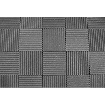 "Acoustic Soundproofing Studio Foam - Wedge Style Panels - 12""x12""x1"" Tiles - 6 Pack - DIY"