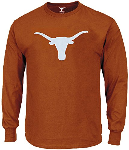 289c Texas Longhorns Mens TX Orange Silhouette Long Sleeve Tee Shirt Apparel (X-Large)