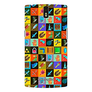 HomeSoGood Beautiful Occupations Pattern Multicolor 3D Mobile Case For OnePlus One (Back Cover)