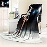 Fleece Blanket 300 GSM Anti-static Super Soft little girl figure skating at sports arena Warm Fuzzy Bed Blanket Couch Blanket(60''x 50'')
