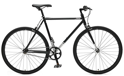 Critical Cycles Harper Single-Speed Fixed Gear Urban Commuter Bike, Matte Black, 43cm, xs