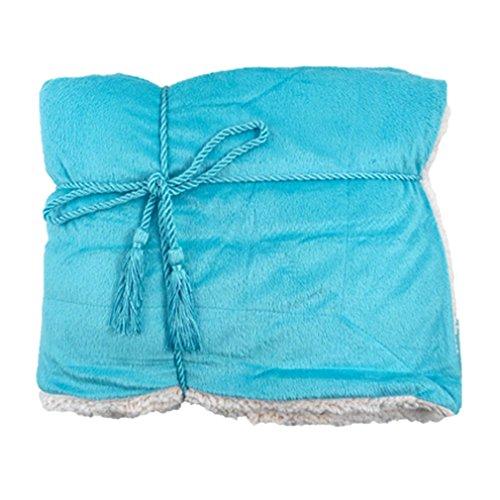 Revesible Soft Faux Fur Sherpa Throw Blanket 50
