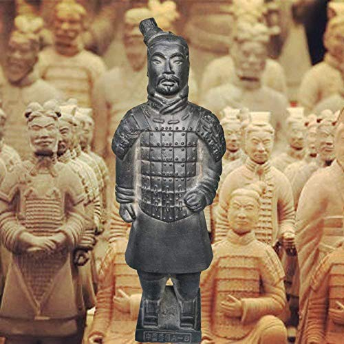 DTTXBMY Ancient Qin Dynasty Terracotta Warriors and Horses Sculpture Home Display Table Display Gift Terracotta Warriors Show 8.8