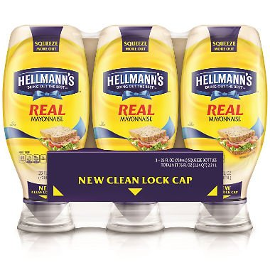 Hellmann's Squeeze Real Mayonnaise 25 oz., 3 ct. A1 by Hellmann's