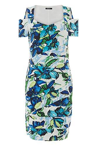 Roman Originals Women Floral Shutter Pleat Fitted Dress - Blue 10