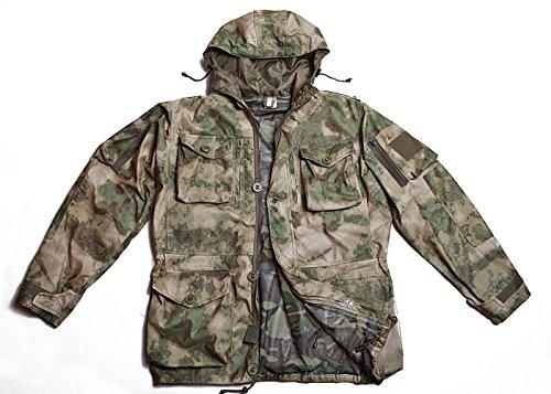 Ruso fuerzas especiales todo tipo de clima Windwater prueba traje de camuflaje, A-TACS FG (MOSS), 48-50 / Height 5-6