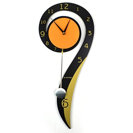 YHviking Creative Wall Clocks with Pendulum,Silent Clocks Modern Decorative Quartz Wall Clock