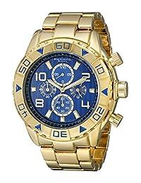 Akribos XXIV Men's AK814YGBU Analog Display Japanese Quartz Gold Watch