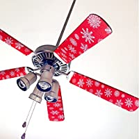 Fancy Blade Ceiling Fan Accessories Blade Cover Decoration, Snowflake