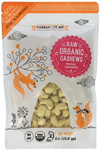 KARMALIZE.ME Organic Raw Cashews, 0.02 Pound