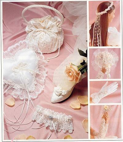 McCall's 2058 Sewing Pattern Alicyn Exclusives Wedding Accessories Garter Purse Ring Pillow ()