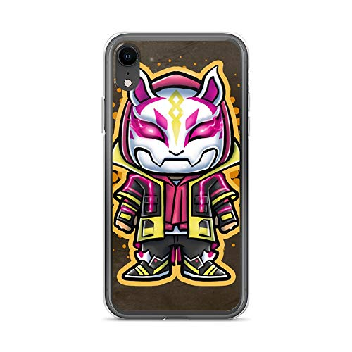 iPhone XR Case Anti-Scratch Gamer Video Game Transparent Cases Cover Soldier Video Game Chibi Style Gaming Computer Crystal Clear