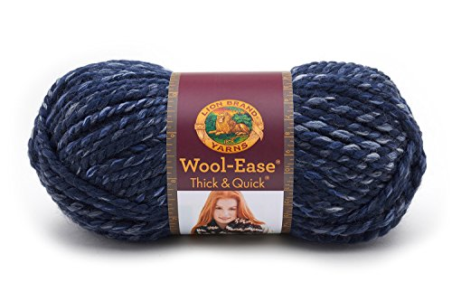 Lion Brand Yarn 640-535 Wool-Ease Thick & Quick Yarn, River Run