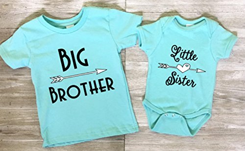 935f721fd5f1 Amazon.com: Big Sister Brother Little Sister Brother Matching Shirts,  Choose your color, Siblings tees: Handmade
