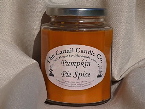 Cattail Candle - Pumpkin Pie Spice - 100% Soy Candle, 12 fl oz