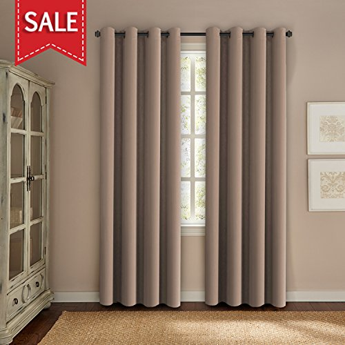 One Grommet (H.Versailtex Permier Soft Blackout Room Darkening Curtains,Energy Saving Window Drapes - (Warm Taupe Color) 1 Panel,52 inch wide by 96 inch long each panel,8 Grommets/Rings per panel)