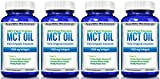 MCT Oil Capsules 100% from Organic Coconuts - 1000 mg 180 Softgels - Great Pills for Energy and Weight Management (4 Pack)