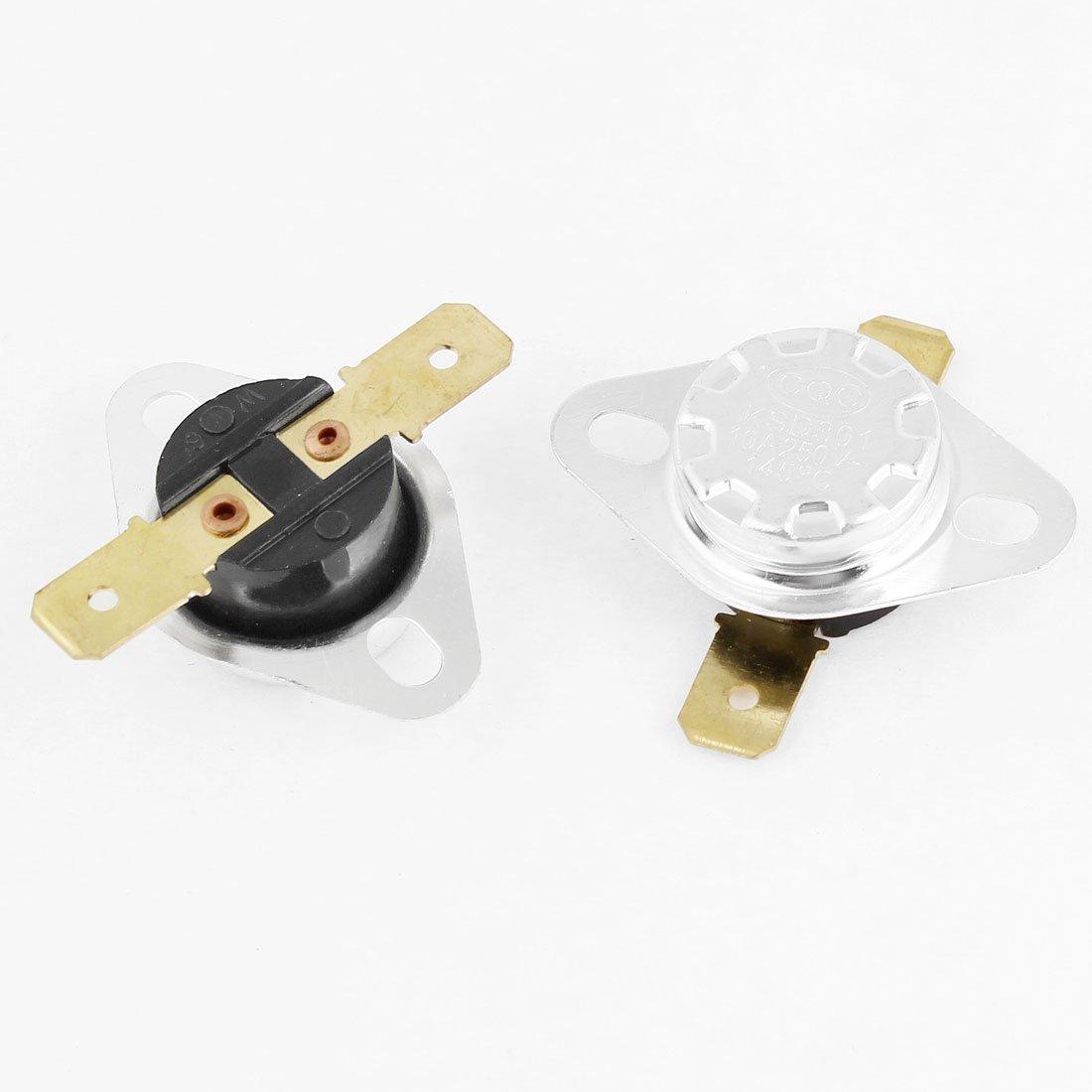 Thermostat 95 Celsius N.C 2pcs 250V 10A Dasket Commutateur /à temp/érature contr/ôl/ée KSD301