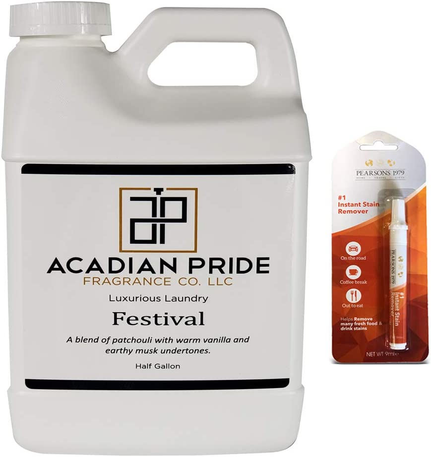 Acadian Pride Luxurious Wash - Pick Your Scent - Half Gallon - (Festival) - (Bundled with Pearsons Stain Remover)