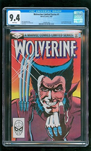 CGC 9.4 WOLVERINE LIMITED SERIES #1 MARVEL COMICS 1982 1ST SOLO WOLVERINE COMIC by Unknown