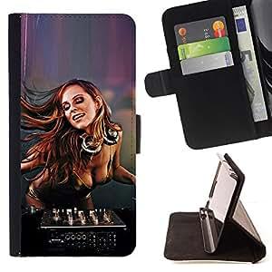 BullDog Case - FOR/Samsung Galaxy S3 Mini I8190Samsung Galaxy S3 Mini I8190 / - / SEXY DJ GIRL /- Monedero de cuero de la PU Llevar cubierta de la caja con el ID Credit Card Slots Flip funda de cuer