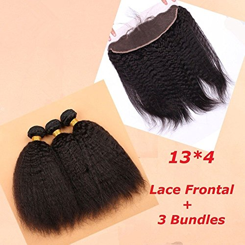 Slove-hair-Brazilian-Virgin-Human-Hair-13×4-Ear-to-Ear-Lace-Frontal-with-3-Bundles-Kinky-Straight-Free-Part-Natural-Black-Color