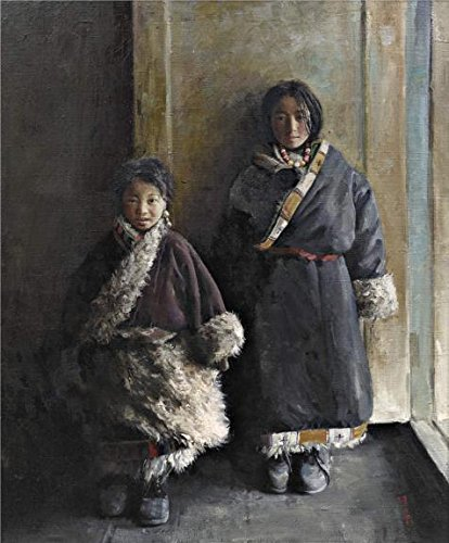 Ideas Costumes 2016 Current (Oil Painting 'The National Minority Kids' Printing On High Quality Polyster Canvas , 18x22 Inch / 46x55 Cm ,the Best Bedroom Decor And Home Decoration And Gifts Is This High)