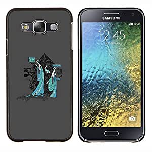 LECELL--Funda protectora / Cubierta / Piel For Samsung Galaxy E5 E500 -- Místico Geisha japonesa --
