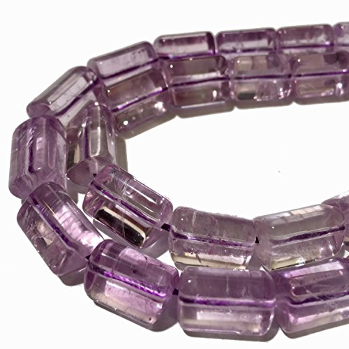 [ABCgems] Rare Brazilian Cape Amethyst (Exceptional Clarity- Grade AA) 10x15mm Smooth Triangular-Prism Beads for Beading & Jewelry - Bracelets Rectangular Jade
