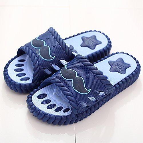 per Blu coppie home soggiorno estate slip Cool per non suite en da massaggio carino uomini pantofole pantofole con bagno DogHaccd gli ciabatte scuro4 stanza femmina 4qUgTcw