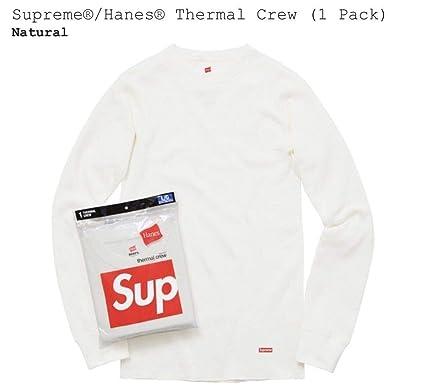 20558bd4472d SupremeNewYork Supreme Hanes Thermal Pant (1 Pack) Natural 100% Authentic -  Box Logo