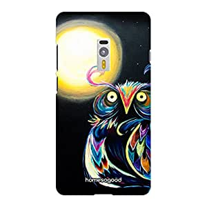 HomeSoGood The King Owl Black 3D Mobile Case For OnePlus 2 (Back Cover)