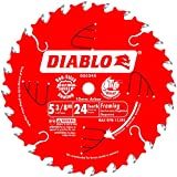 Freud D0524X Diablo 5-3/8-Inch 24 Tooth ATB Framing Cordless Trim Saw Blade with 10mm Arbor, Model: D0524X, Tools & Hardware store