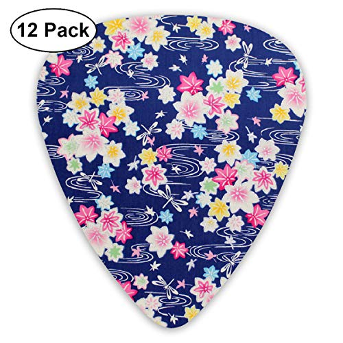 Asian Glitter Kaede (3) Bendy Ultra Thin 0.46 Med 0.73 Thick 0.96mm 4 Pieces Each Base Prime Plastic Jazz Mandolin Bass Ukelele Guitar Pick Plectrum Display