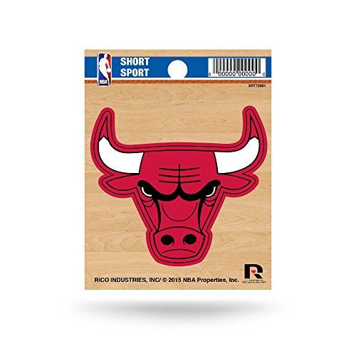Rico Industries NBA Chicago Bulls Die Cut Team Logo Short Sport Sticker