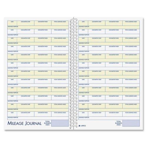 Wholesale CASE of 20 - Adams Vehicle Mileage/Expense Journal Pocket-Vehicle Mileage/Expense Jrnl,w/Pckts,5-1/4