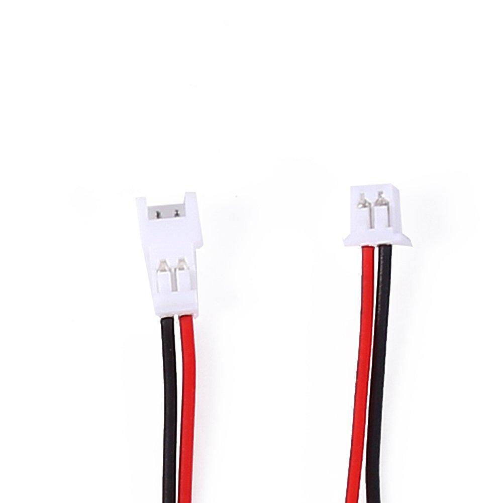 Dilwe 20 Pares 1.25mm 2-Pin Conector Macho y Hembra Cable de Conexi/ón Micro Conexi/ón El/éctrica Enchufe Cables