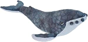 Wild Republic Humpback Whale Plush, Stuffed Animal, Plush Toy, Gifts for Kids, Cuddlekins 14 Inches