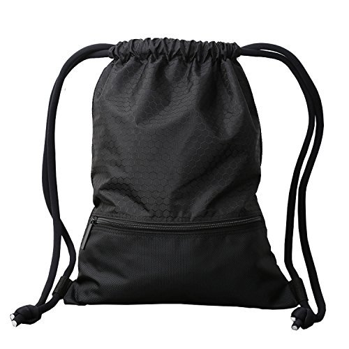 051e1091e9d4 Alpaca Go Drawstring Bags,Lightweight Durable Waterproof Gym sackpack Sport  Basketball Running Dancing Swimming Hiking Gym Backpack (Black, Large)
