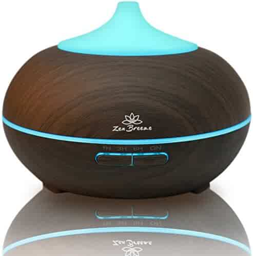 Essential Oil Diffuser Dark Wood - Aromatherapy Diffuser - Birthday Gift Edition - by Zen Breeze