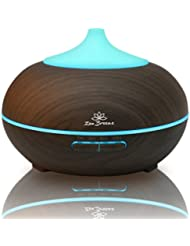 Zen Breeze Essential Oil Diffuser Dark Wood - Aromatherapy Diffuser - Birthday Gift Edition