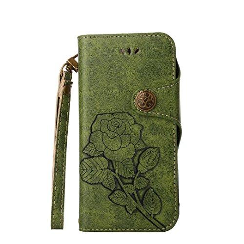 COWX iphone 7 Hülle Kunstleder Tasche Flip im Bookstyle Klapphülle mit Weiche Silikon Handyhalter PU Lederhülle für Apple iphone 7 Tasche Brieftasche Schutzhülle