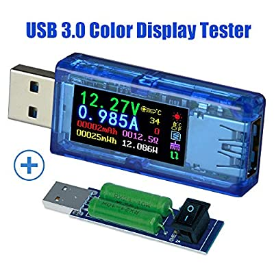AVHzY USB Power Meter Tester Digital Multimeter USB Load Current Tester Voltage Detector DC 26.0000V 6.0000A Test Speed of Charger Cables PD 2.0/3.0 QC 2.0/3.0/4.0 or pps Trigge