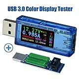 USB 3.0 Power Meter Tester USB load Digital Multimeter Current Tester Voltage Detector DC 30.00V 4.000A Test Speed of Charger Cables QC 2.0/3.0 AP 2.4A ...