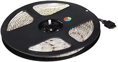 Striscia strip led rgb smd 3528 12V 6A 5 mt multicolore telecomando centralina