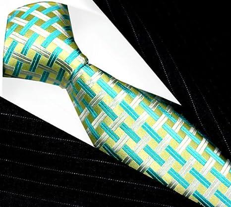 LORENZO CANA - Corbata - Cuadrados - para hombre Verde limón ...