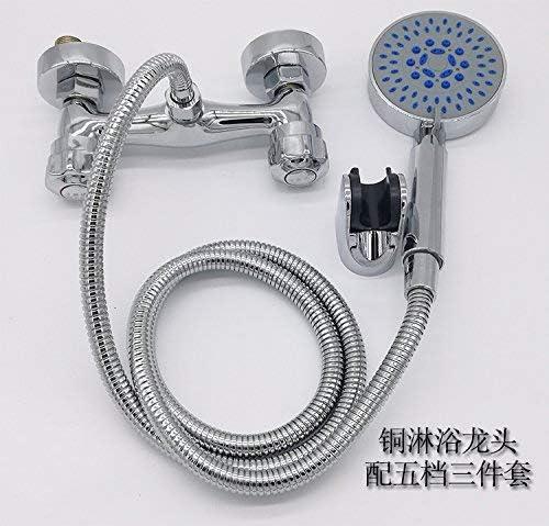 CHENBIN-BB バルブ銅の過給シャワーセット、現代と簡体字の鉄ボディ銅コアシャワーの蛇口5 Setquality保証をミキシングダブルダブルコントロールコールドシャワー給湯風呂シャワーの蛇口