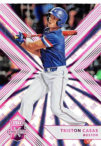 ecf9950e6 Amazon.com  2018 Elite Extra Edition EEE Pink Baseball  25 Triston Casas  Boston Red Sox Official NCAA Prospect Trading Card By Panini Blaster  Exclusive Pink ...